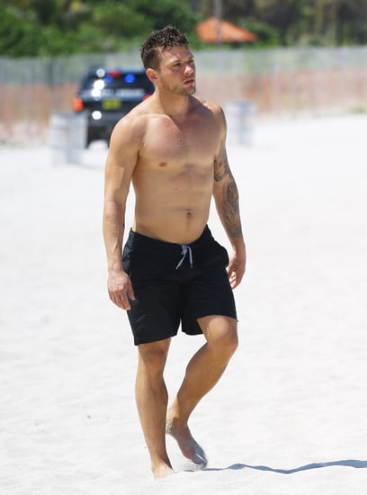 Ryan Phillippe showed off his shirtless body in Miami on Monday.