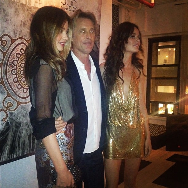 Miranda Kerr and Nicole Trunfio supported Russell James