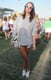 Sometimes, all you need is an oversize striped shirt, a glow-in-the-dark Alexander Wang bag, and cute white shoes to stand out at Coachella. Source: Chi Diem Chau