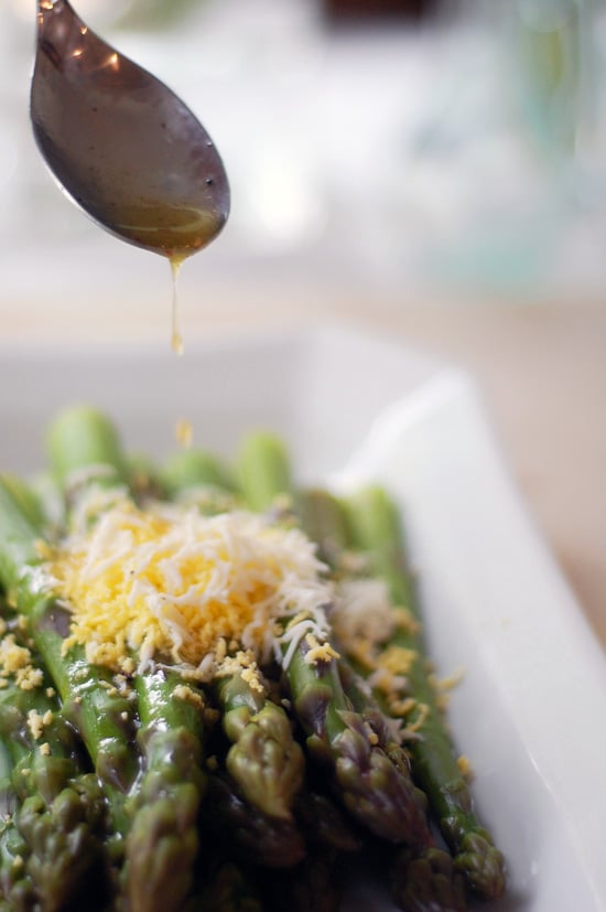 Asparagus With Shaved Egg