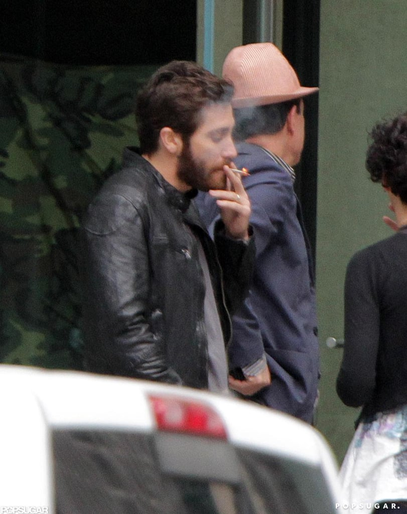 Jake Gyllenhaal shot a scene for his latest film, An Enemy, in Toronto.