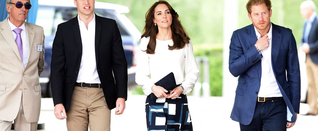 The Duchess of Cambridge Boxes in a Banana Republic Skirt
