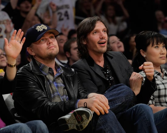 Photos of Ryan Seacrest, Adam Levine, Denzel Washington, Brandon Jennings, Leonardo DiCaprio, and Lukas Haas at a Lakers Game 2010-01-11 11:30:00