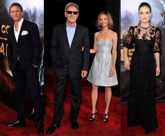 Daniel Craig, Harrison Ford, and Olivia Wilde Ride Into Comic-Con With Their Cowboys and Aliens