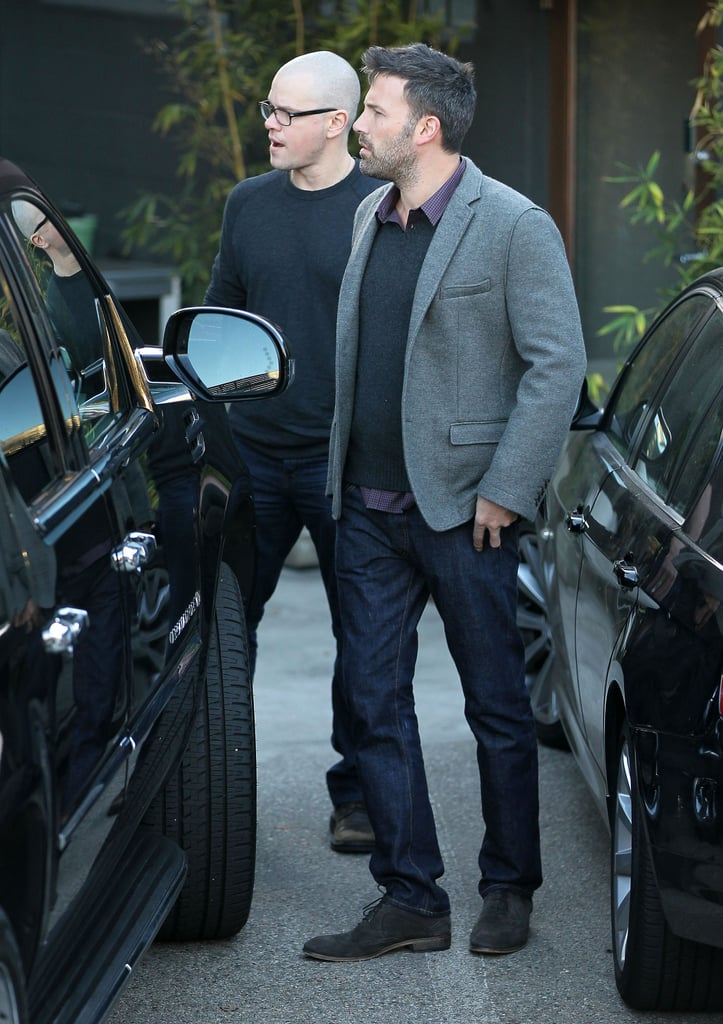 Matt Damon and Ben Affleck stepped out in LA.