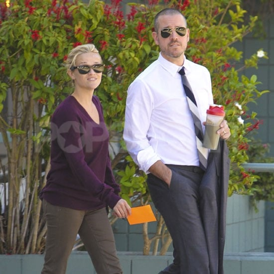 Reese Witherspoon and Jim Toth ran errands in LA.