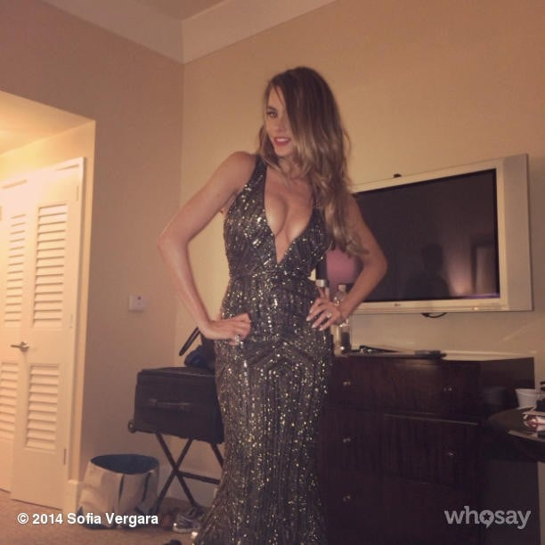 Later, Sofia channeled Jennifer Lopez in sexy sequin look for the afterparties. Source: Instagram user sofiavergara