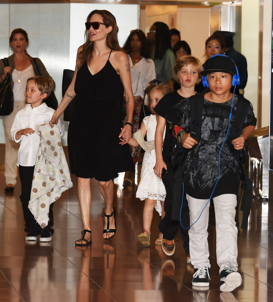 Angelina Jolie Makes Her Latest Press Stop a Family Affair