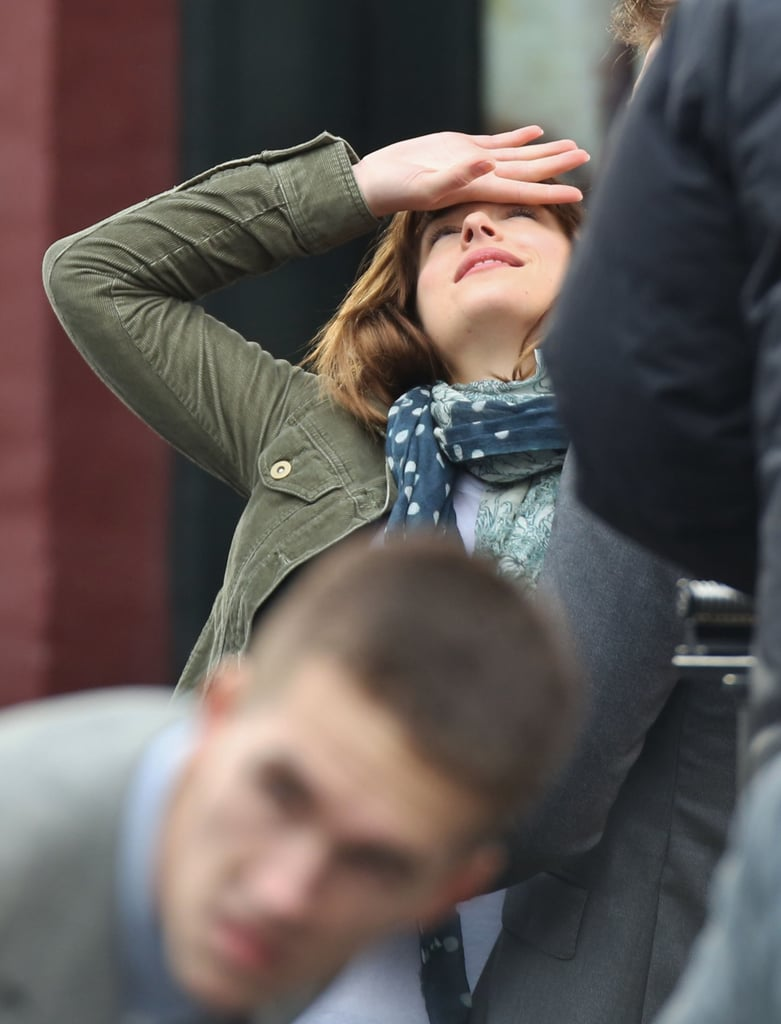 Johnson displayed her best damsel-in-distress look.