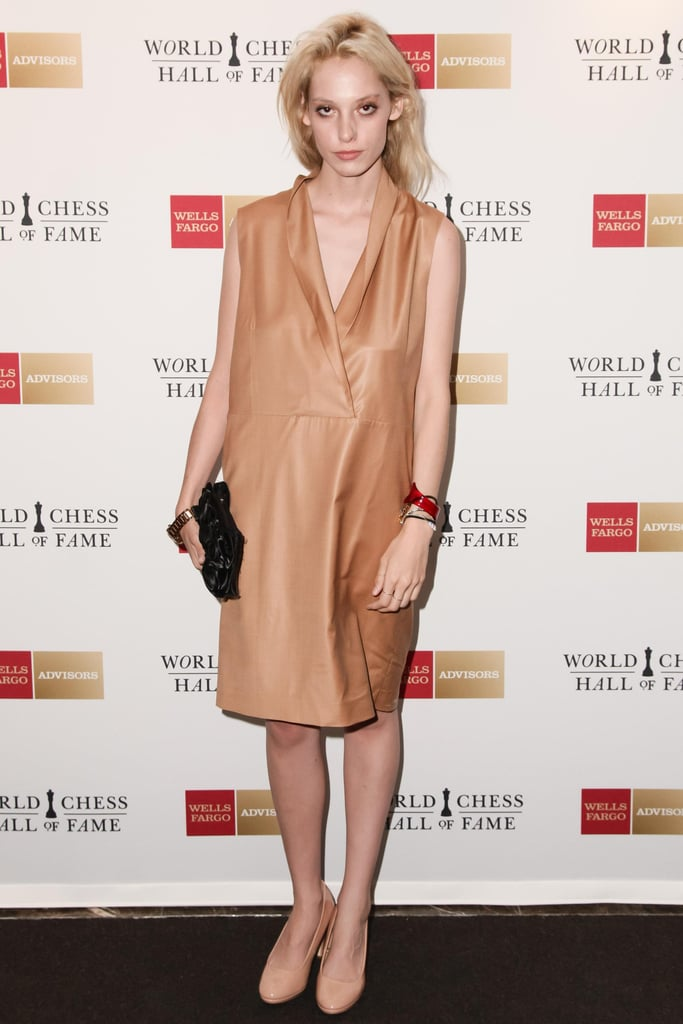 "Cory Kennedy at the World Chess Hall of Fames's ""A Queen Within: Adorned Archetypes, Fashion and Chess"" exhibit preview in NYC. Source: Benjamin Lozovsky/BFAnyc.com"