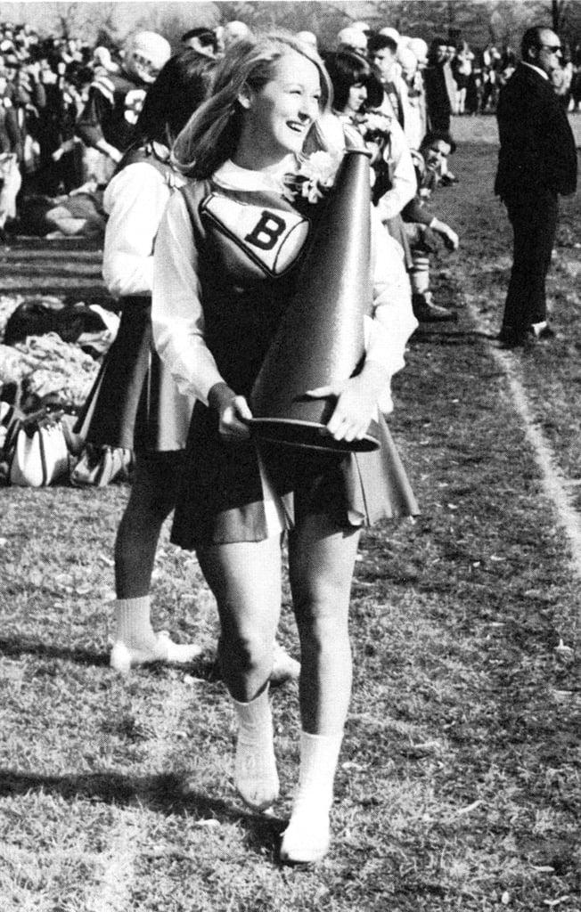 Meryl Streep was on the cheering squad.