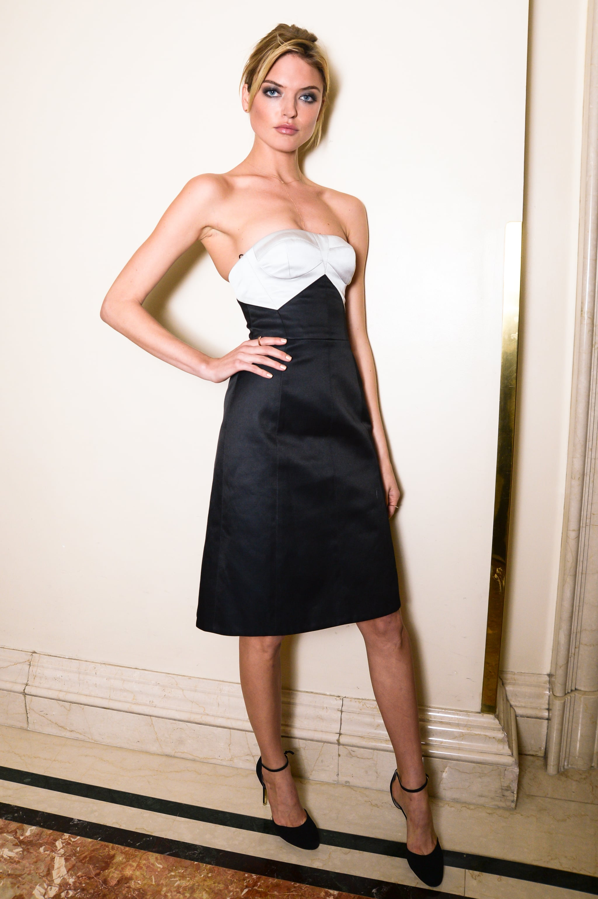 Martha Hunt at the St. Regis's debut of the new King Cole Bar and Salon.