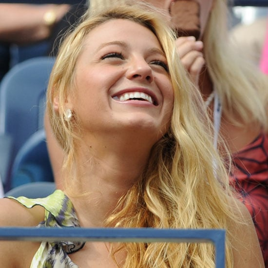 Blake Lively Pictures at the US Open With Hudgens, Sudeikis