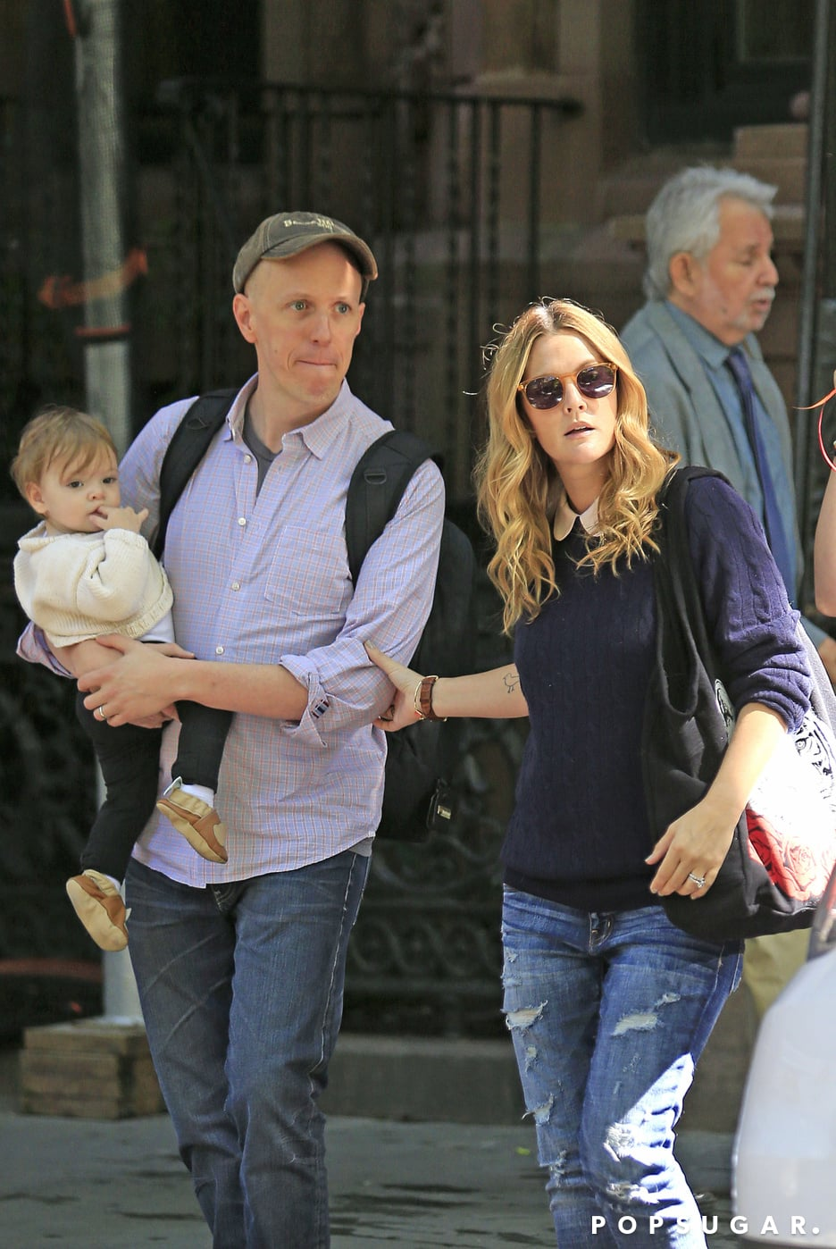 Drew Barrymore went to visit pal Jimmy Fallon on his birthday.