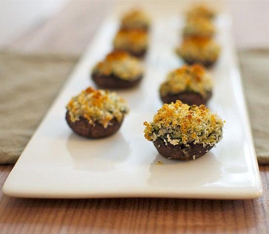 Spinach-and-Artichoke-Stuffed Mushrooms