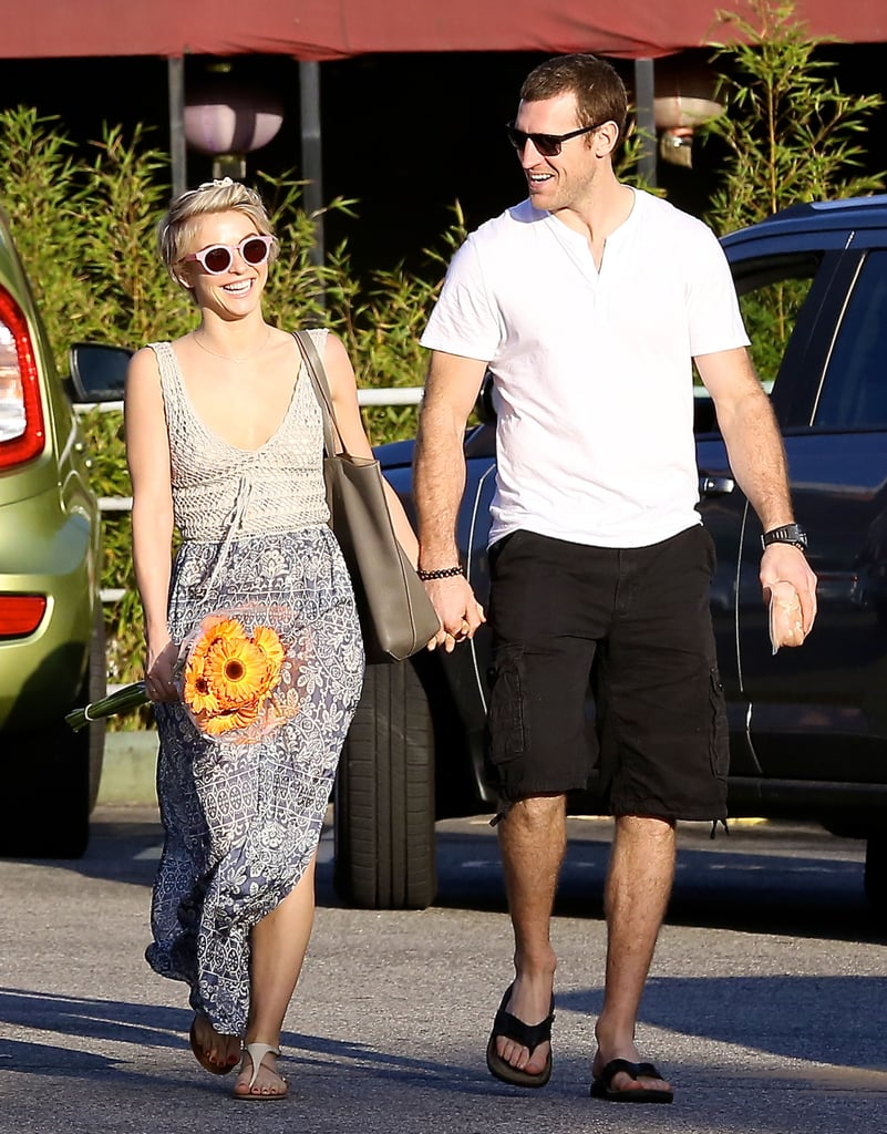 Julianne Hough stepped out with her new boyfriend, Brooks Laich, in Hollywood on Monday.