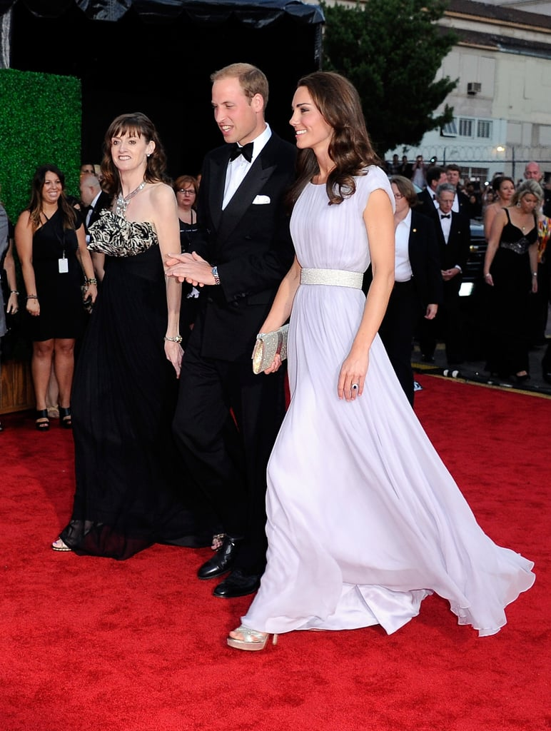 Prince William and Kate Middleton with Amanda Berry at BAFTA event.