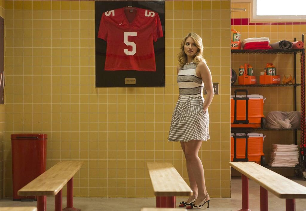 Quinn visits Finn's old jersey.