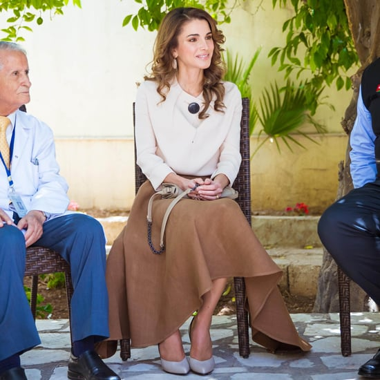 Queen Rania Brown Midi Skirt June 2016