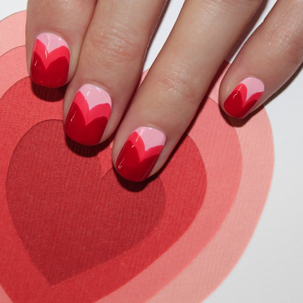 Pinterest fell in love with this heart manicure from Jin Soon Choi. Don't worry there is still time to DIY before your big Valentine's Day date.  Source: Jin Soon Choi