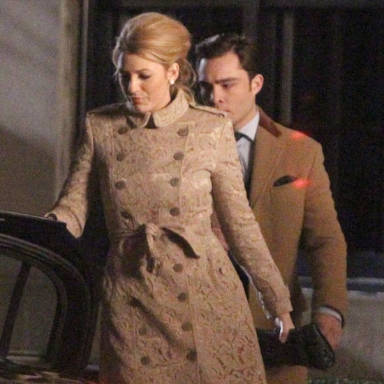 Blake Lively and Ed Westwick Filming Gossip Girl Pictures