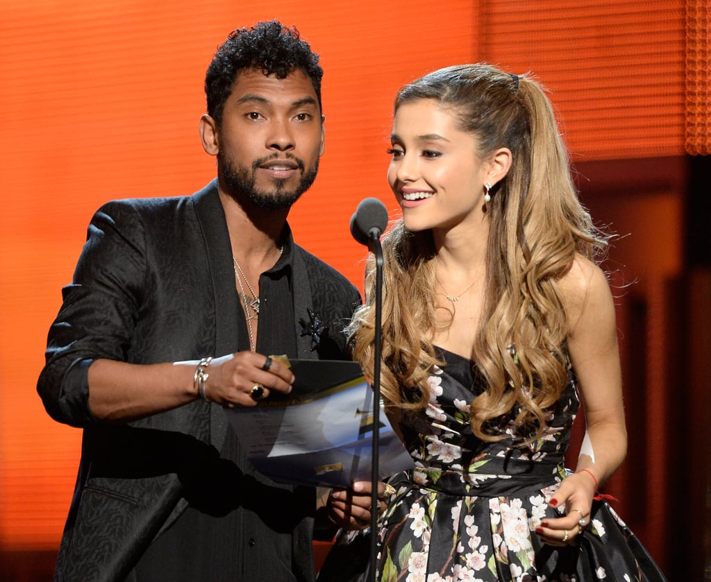 Ariana Grande and Miguel presented together.