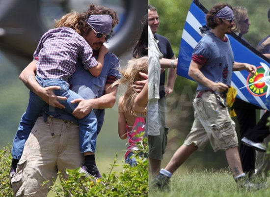 Pictures of Johnny Depp in Hawaii With Kids Jack and Lily-Rose