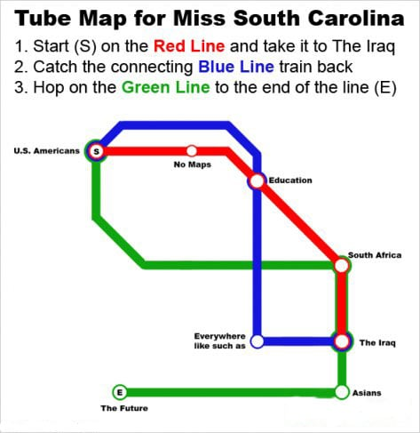 A Map For Miss Teen S.C.