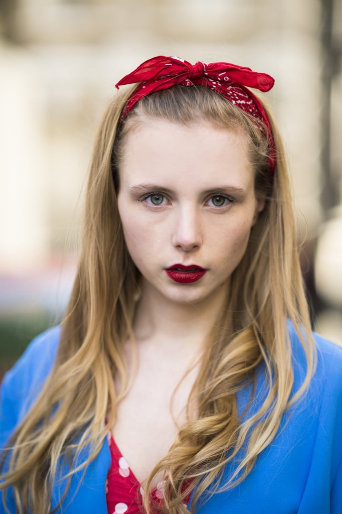 Marie Jensen was the epitome of the modern pinup with her impossibly deep red lips and crimson bandanna. Source: Le 21ème | Adam Katz Sinding