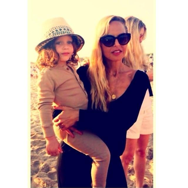Rachel Zoe took Skyler Berman as her date to a beachside party. Source: Instagram user rachelzoe