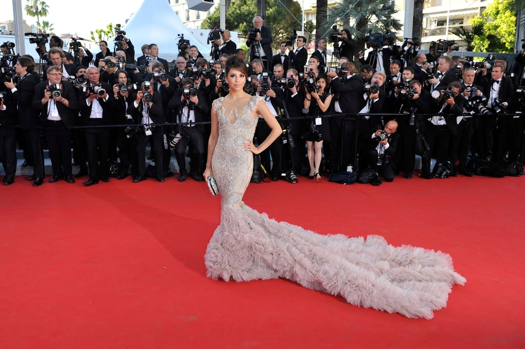 Eva Longoria wore an extravagant gown to the opening of the Cannes Film Festival and premiere of Moonrise Kingdom.