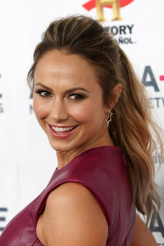Steal Stacy Keibler's look for a day at the office. The mussed-up imperfection is part of this casual look's appeal.