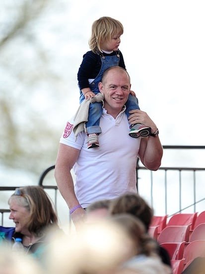 Zara Tindall's Husband Mike and Daughter Mia Show Their Support as She Competes in Horse Trials in Gloucestershire