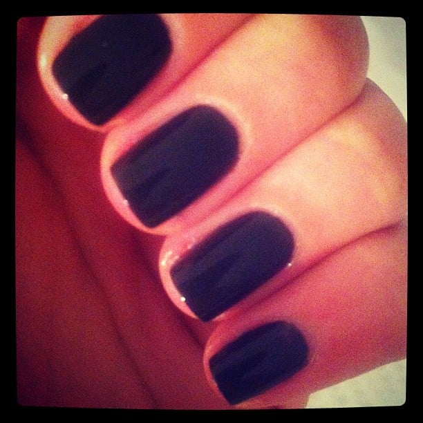 A moody Chanel polish was the perfect way for beauty editor Alison to start her working week.