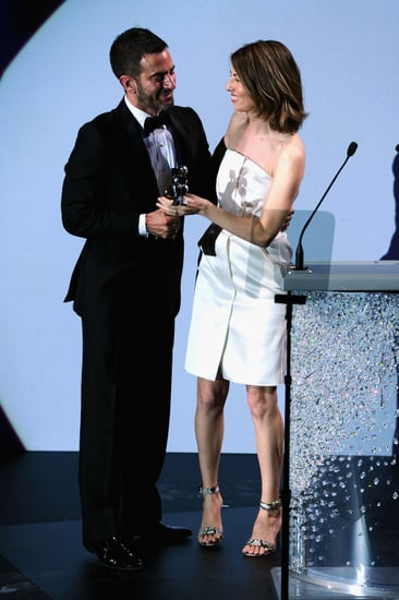"""Finally, Sofia Coppola took the stage to present Marc Jacobs with his """"Half-Lifetime Achievement Award,"""" saying that when she met Jacobs in the '90s, """"I felt like someone was making clothes for me . . . for the first time."""" Coppola told Harper's Bazaar, pre-show: """"I am so not comfortable speaking on stage. I came to the rehearsal  this  morning to practice. Marc is the only person I would have   agreed to do this for. I am so happy for everyone in his company!"""""""