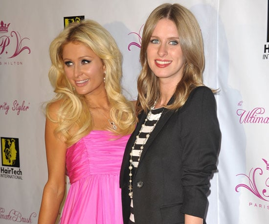 Slide Photo of Paris and Nicky Hilton at Hair and Beauty Launch in LA