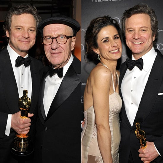 Pictures of Colin Firth, Livia Giuggioli, and Geoffrey Rush at Weinstein Oscar Party to Celebrate The King's Speech Wins