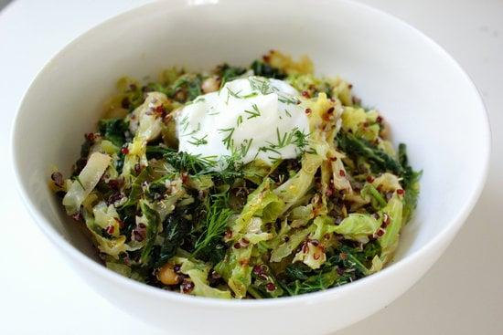 Lemony Toasted Quinoa and Cabbage Salad