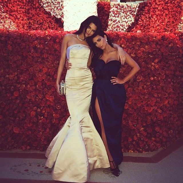 Kendall Jenner and Kim Kardashian had a sweet sister moment. Source: Instagram user kendalljenner