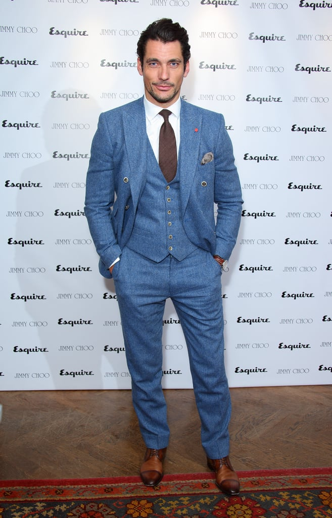 David Gandy at the Jimmy Choo and Esquire celebration for the launch of London Collections: Men in London.