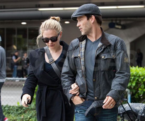 Slide Picture of Stephen Moyer and Anna Paquin Arriving at LAX