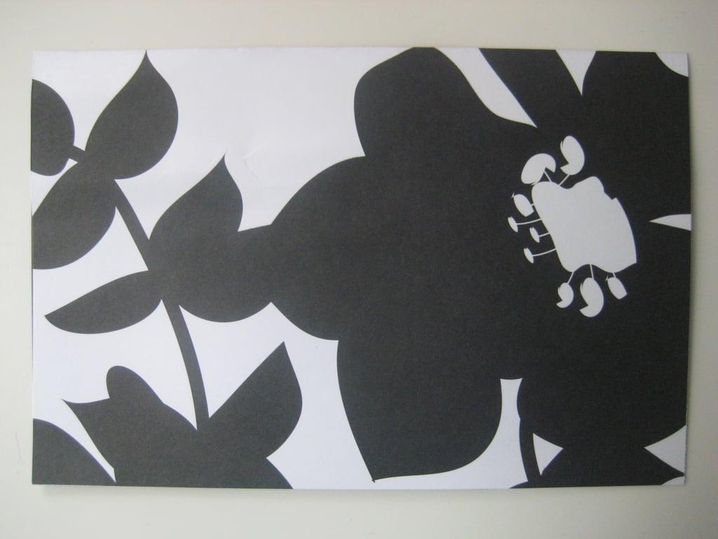 Black and White Luau Invite: Step by Step