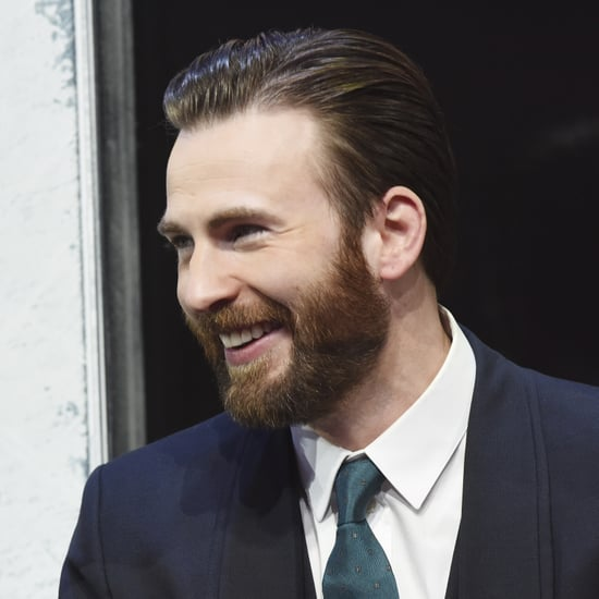 Chris Evans Looking at Elizabeth Olsen's Cleavage