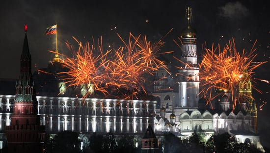 Pictures of Moscow Fireworks on Victory Day