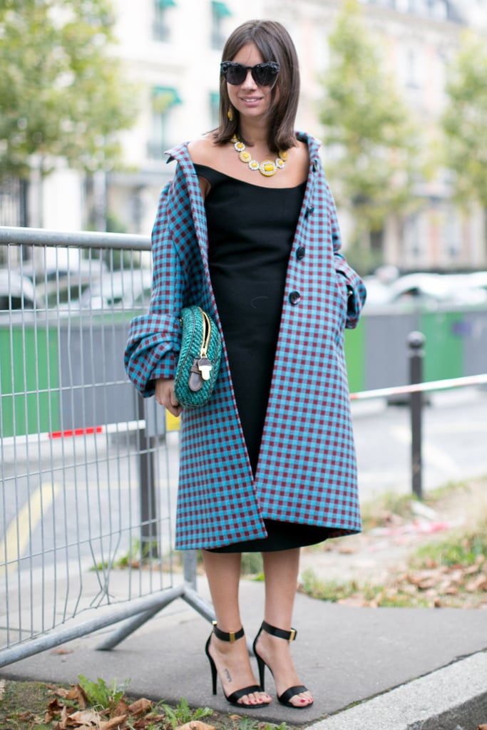 Natasha Goldenberg outfitted a little black dress with all the right accessories.