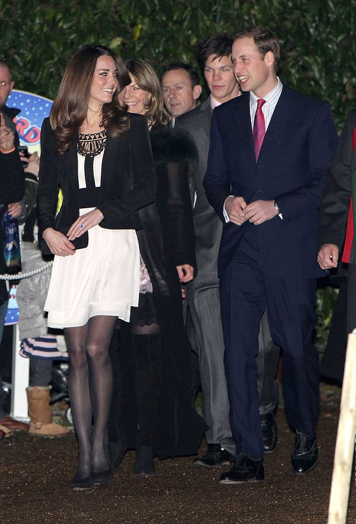 The Royal Couple at a Christmas Reception