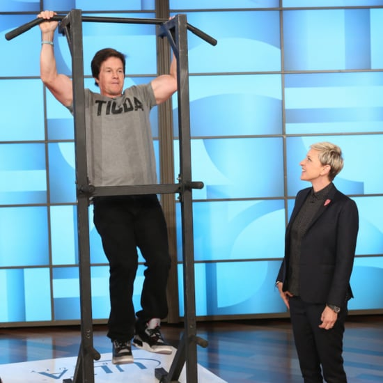 Mark Wahlberg Doing Pull-Ups on Ellen
