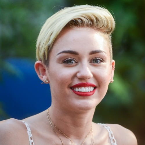 Miley Cyrus Side Part Hair