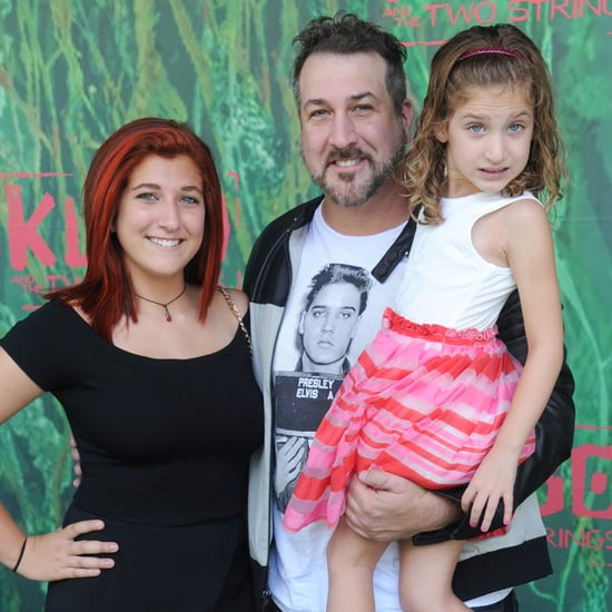 Joey Fatone With His Daughters at Kubo and the Two Strings
