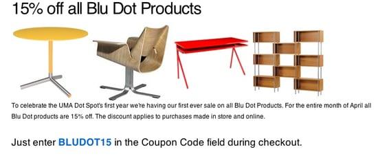 Sale Alert: UMA Blu Dot Sale